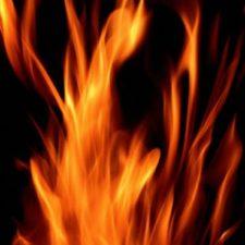 Dos Rojas Lenguas De Fuego